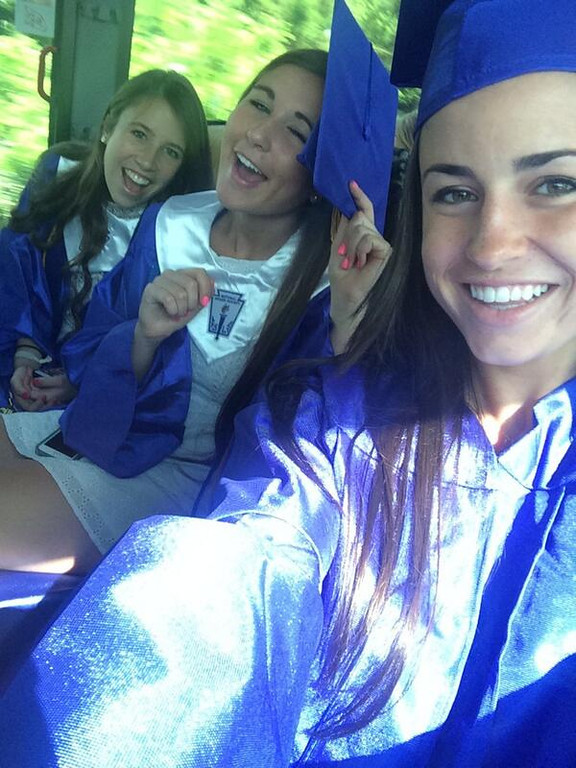 . Sienna Helena and her friends on the way to graduation.