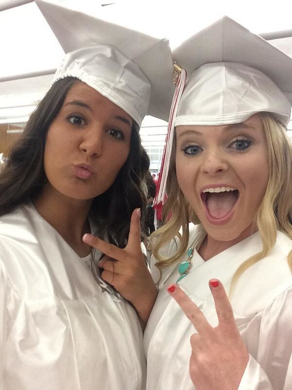 . Two Souderton Area High School grads take a selfie.