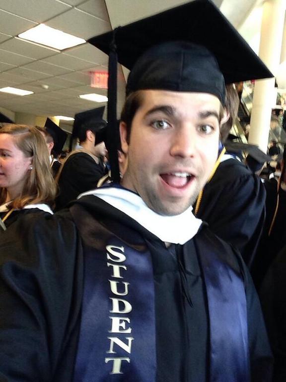 . Patrick Fisher graduates.