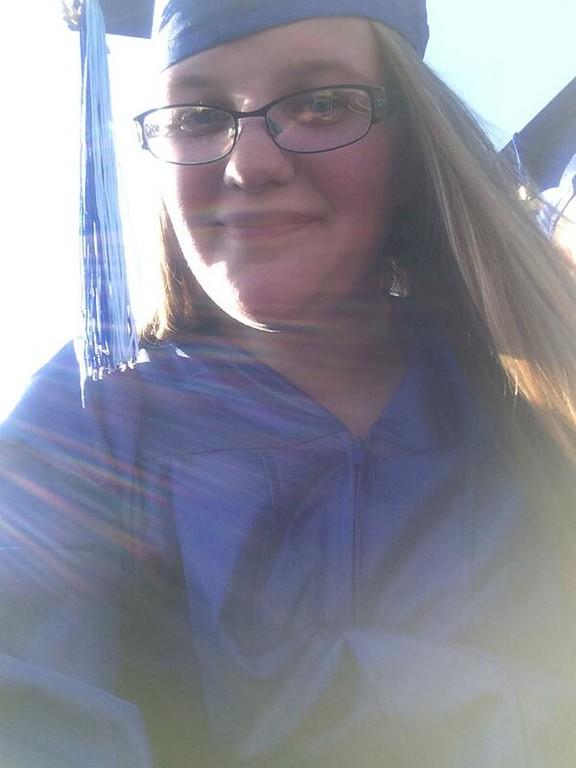 . Katlynn Harris tweeted this graduation selfie.